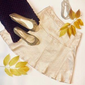 Gold New York & Co. Circle Skirt Size 8